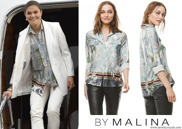 Crown Princess Victoria wore By Malina Nicolina Shirt