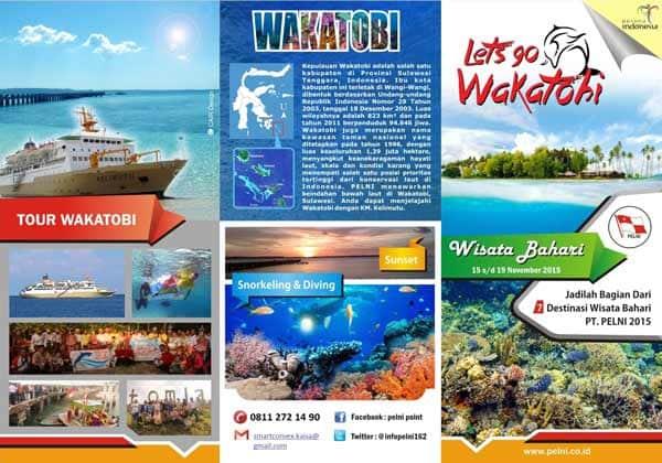 Brosur Wisata ke Pulau Wakatobi