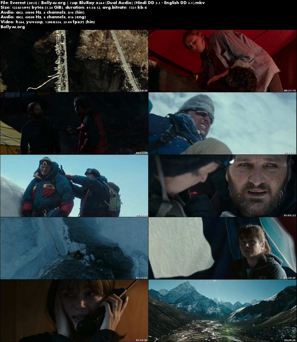 Everest 2015 BluRay Hindi Dubbed Dual Audio 720p Download
