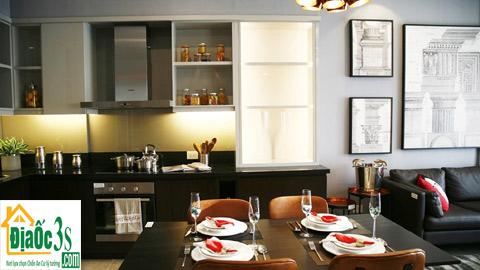 Phòng bếp căn hộ mẫu Sun Grand City Thuy Khue Residence