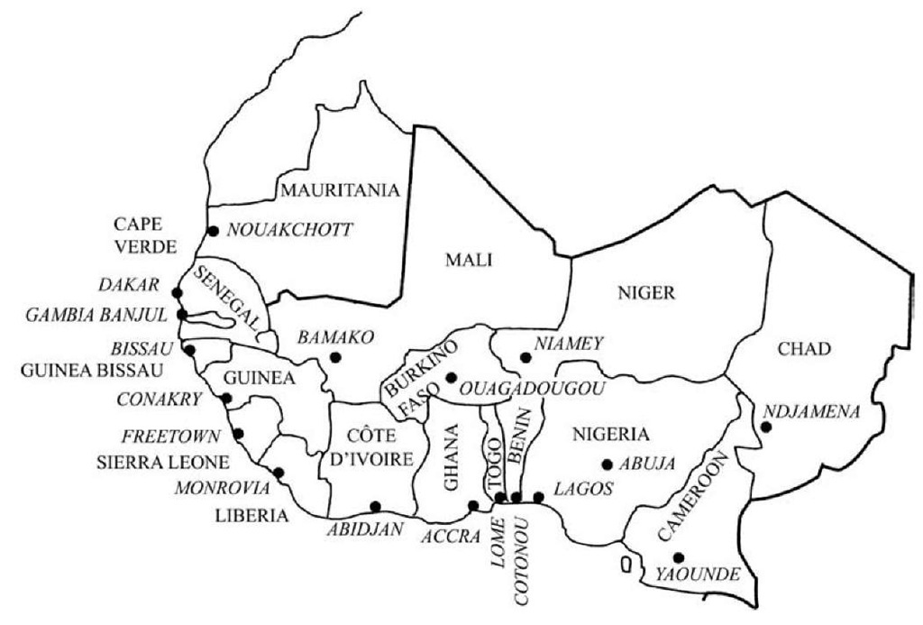 West african countries an overview west african countries west africa regional map photo credit what when how ccuart Choice Image