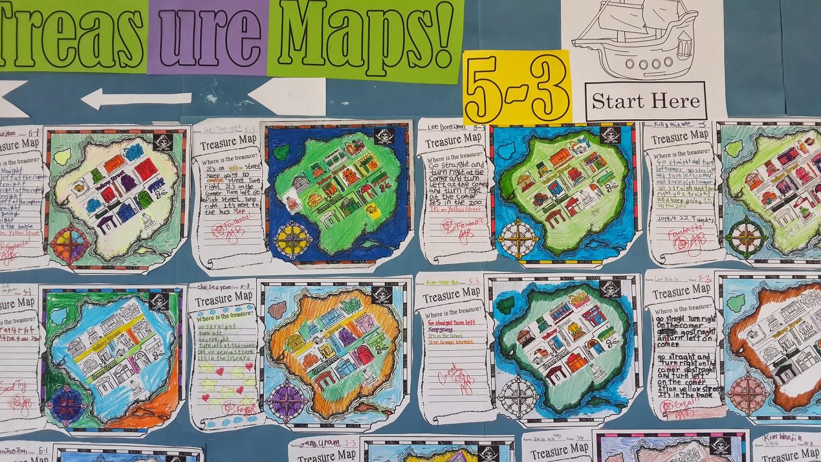 Tales Of A 4th Grade Writing Teacher Preposition Treasure Maps