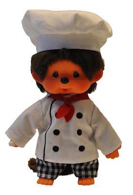 monchhichi Chefkoch cuisinier chef cuistot toque allemand nouveauté