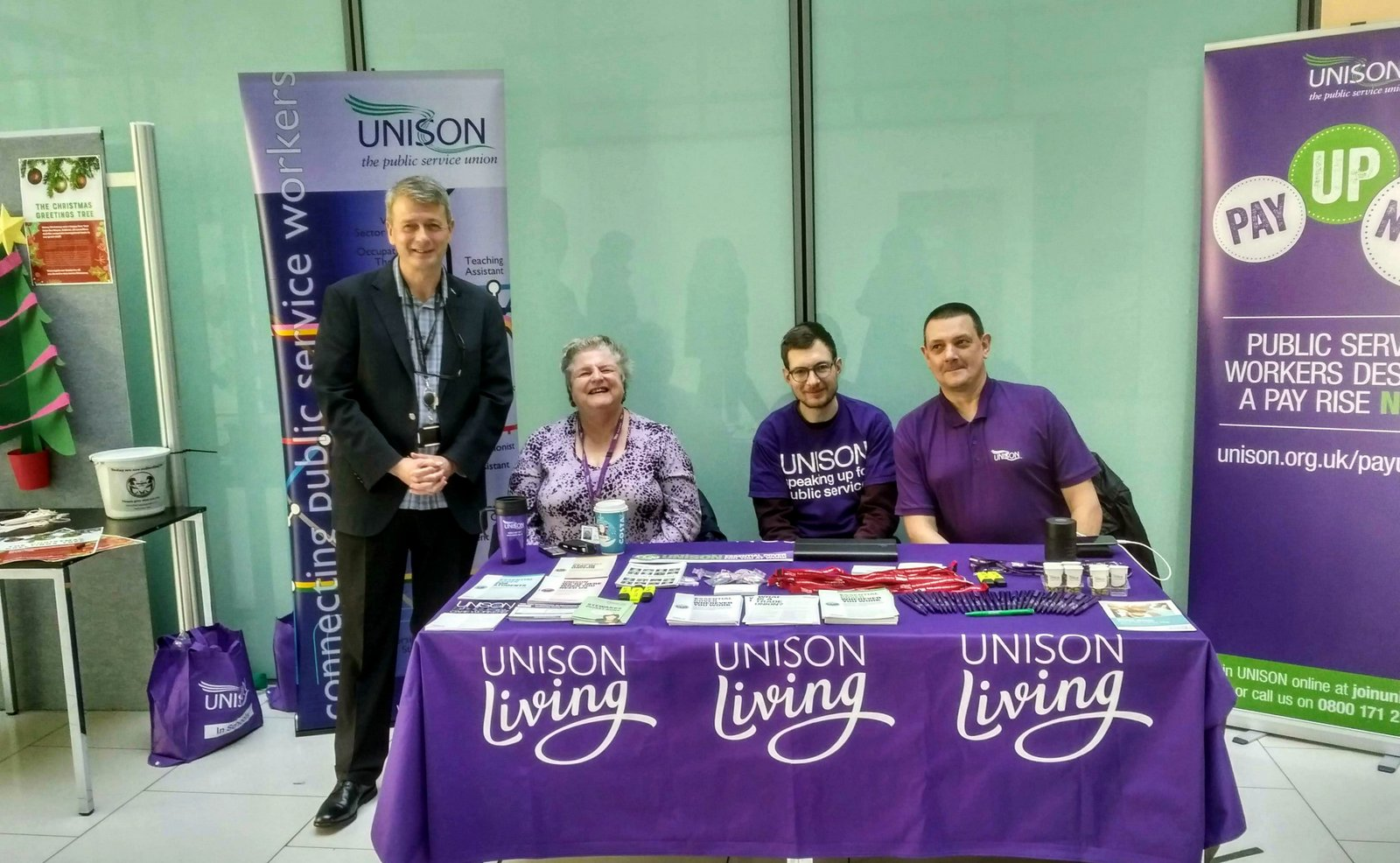 John's Labour blog: Showing solidarity at UNISON stall