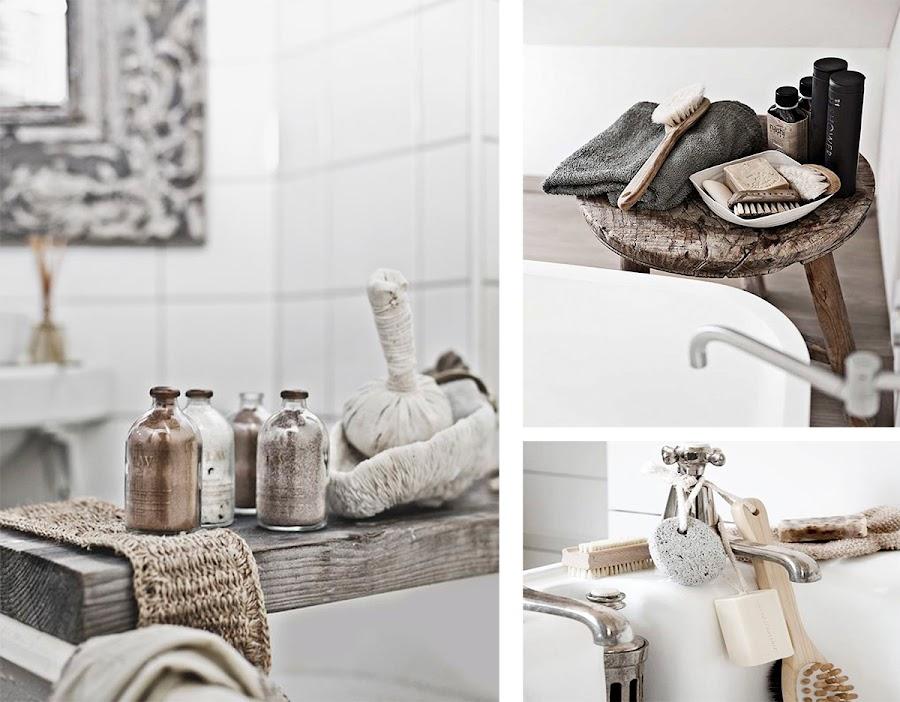 decoracion nordica, estilo nordico, baño, sales de baño, bandeja bañera,