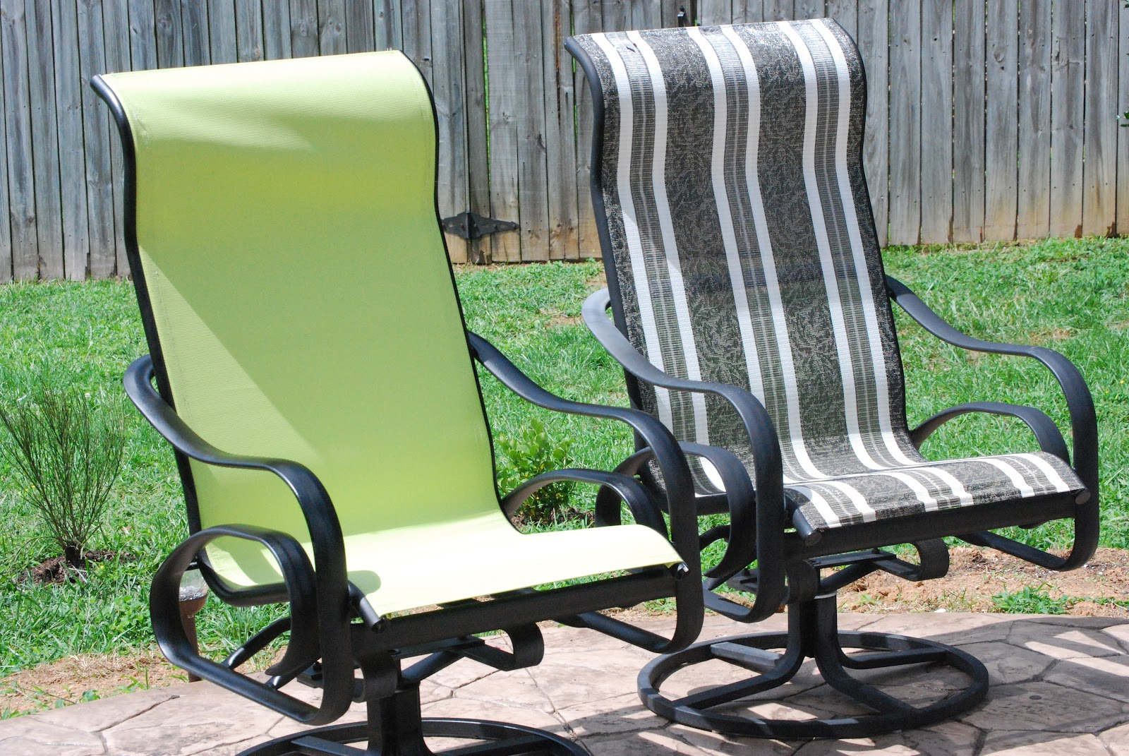 Spray Paint Patio Chair Fabric