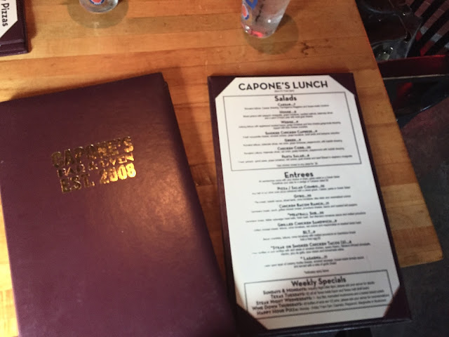 Capone's Houston Menu