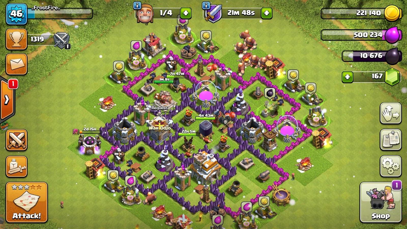 coc th7 farming base