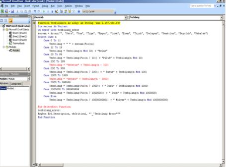 Error Script Pada Jendela Microsoft Visual basic Editor