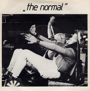 "Record sleeve for ""Warm Leatherette"" by The Normal."