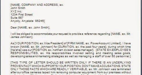 Bad Employee Reference Letter