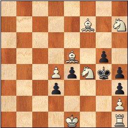 Mate en 2 de Antonio Génova Rius, Butlletí Federació Catalana d'Escacs - Oct/Dic 1949