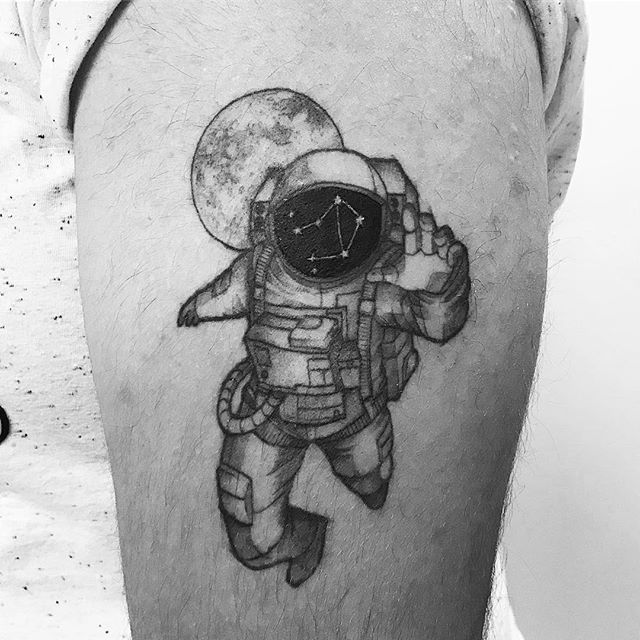 astronaut tattoo designs