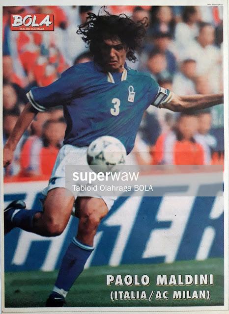 POSTER PAOLO MALDINI ITALY 1997