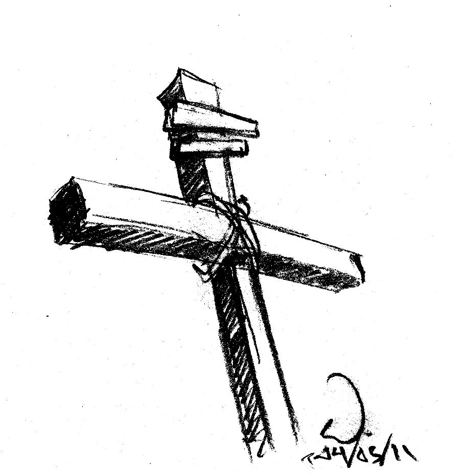 Rugged Cross Drawing