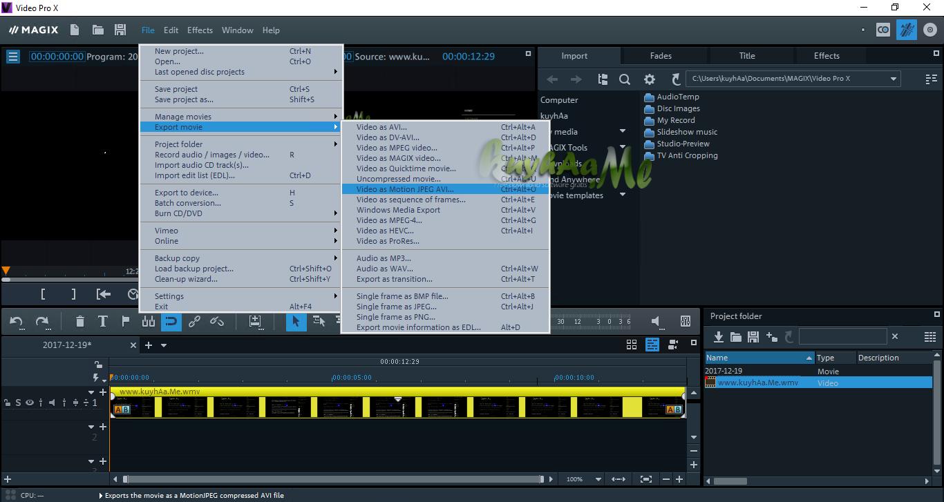 MAGIX Video Pro