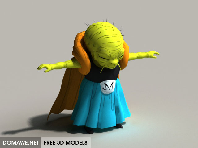 Babidi 60D Model Free Download Dragon Ball Free 60D Models Awesome Bownloab Rade Ba Idi