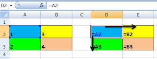 display formula referensi sel relative