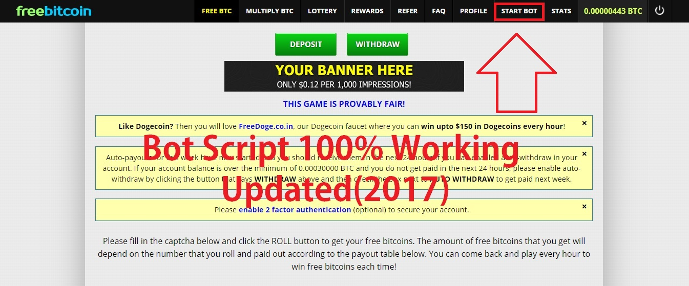 Download Freebitco.in Auto Bot 2017 WORKING 100% - Gift Bots