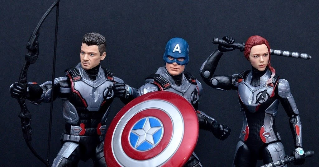 Come See Toys Marvel Legends Series Avengers Endgame Quantum Realm Suit Black Widow Hawkeye Two Pack Captain America
