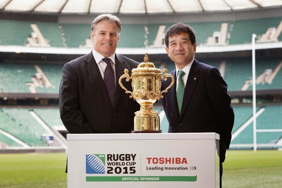 Toshiba nuevo patrocinador oficial de la Rugby World Cup 2015