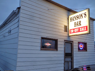 Hanson's Bar in Robinson, North Dakota, is the geographic center of North America