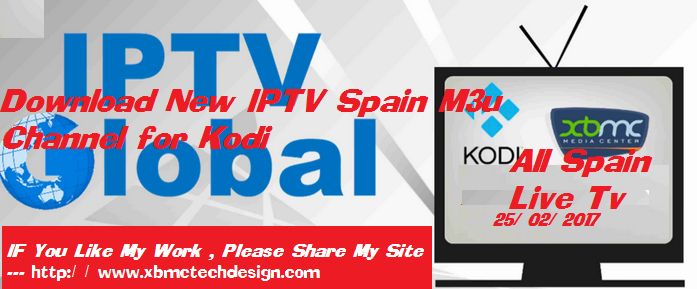 Download New IPTV Spain M3u Channel for Kodi