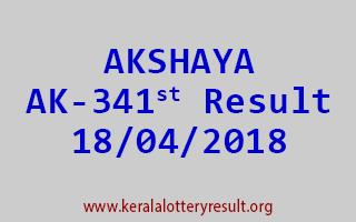 AKSHAYA Lottery AK 341 Result 18-04-2018