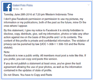 Status Update Of Facebook Is Hoax