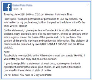 Status Update Of Facebook Is Hoax