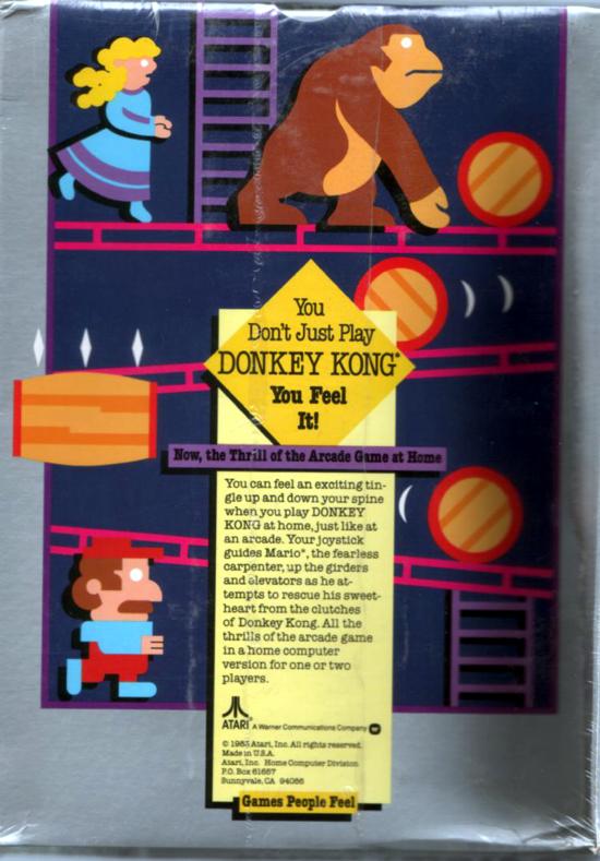 Atari Donkey Kong 1983 back