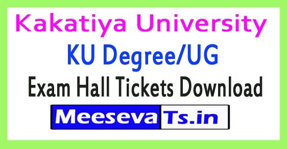 Kakatiya University KU Degree/UG Exam Hall Tickets Download 2017