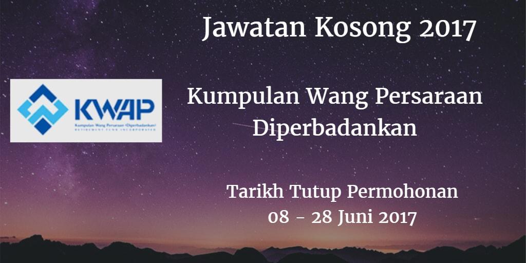 Jawatan Kosong KWAP 08 -  28 Juni 2017