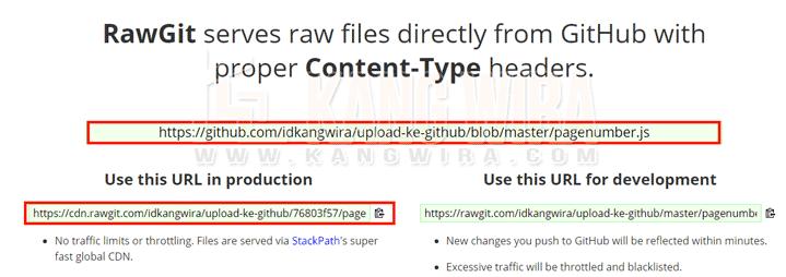 Raw Link Github ke RawGit