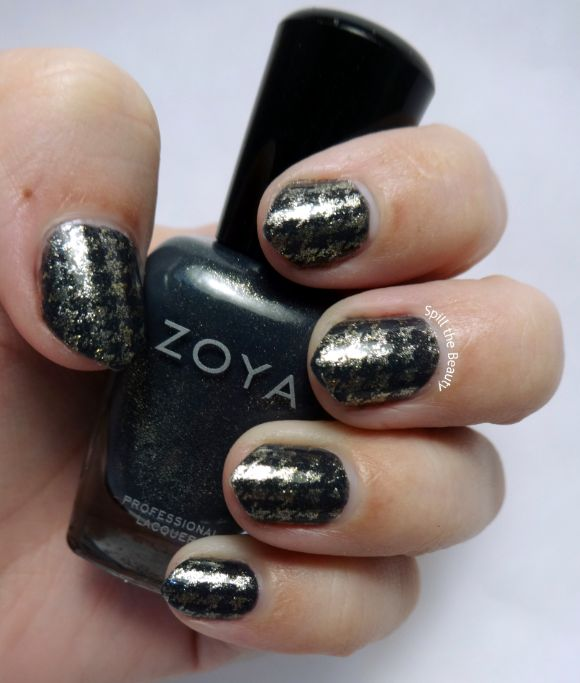 #ManiMonday – Golden Houndstooth
