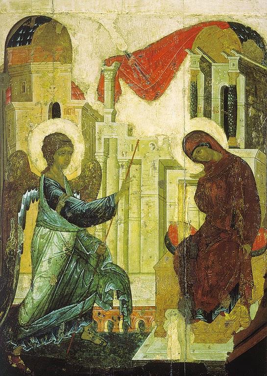 Anunciação - Pinturas de Mikhail Nesterov - (Simbolismo) Russo