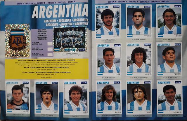 USA '94 WORLD SOCCER CHAMPIONSHIP GROUP D ARGENTINA