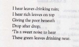 The Rain By W. H Davies Stanza 1