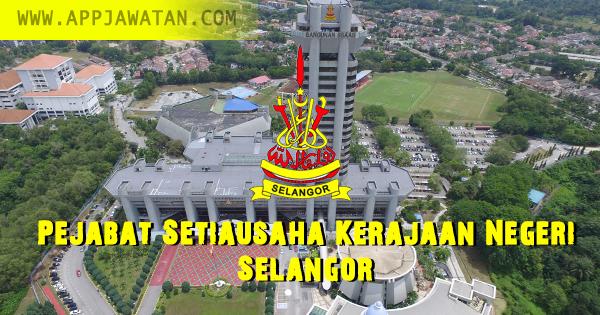 Jawatan Kosong kerajaan iaitu di Pejabat Setiausaha Kerajaan Negeri Selangor