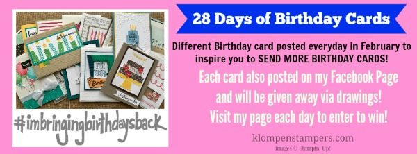 28 Days Of Birthday Cards Card 1 Klompen Stampers