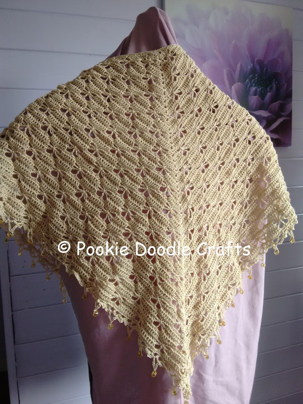 Crochet Butterfly Shawl Free Pattern : Pookie Doodle Crafts: Butterfly Stitch Crochet Shawl