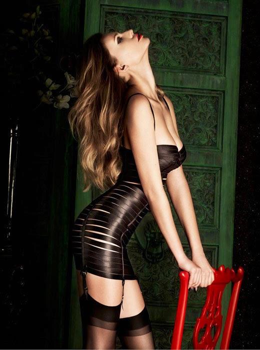 Glam lingerie supermodel mystery blockbuster garters sexy