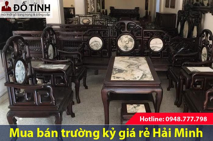 Mua bán bộ bàn ghế trường kỷ giá rẻ tại Hải Minh
