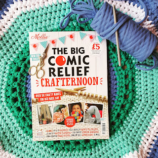 Mollie Makes Comic Relief Crafternoon magazine