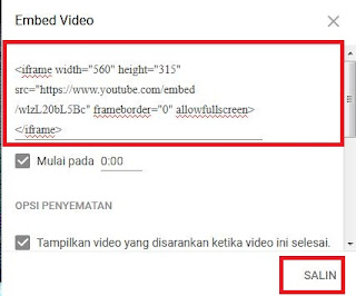 Cara Memasukan Vidio Youtube Ke Blog