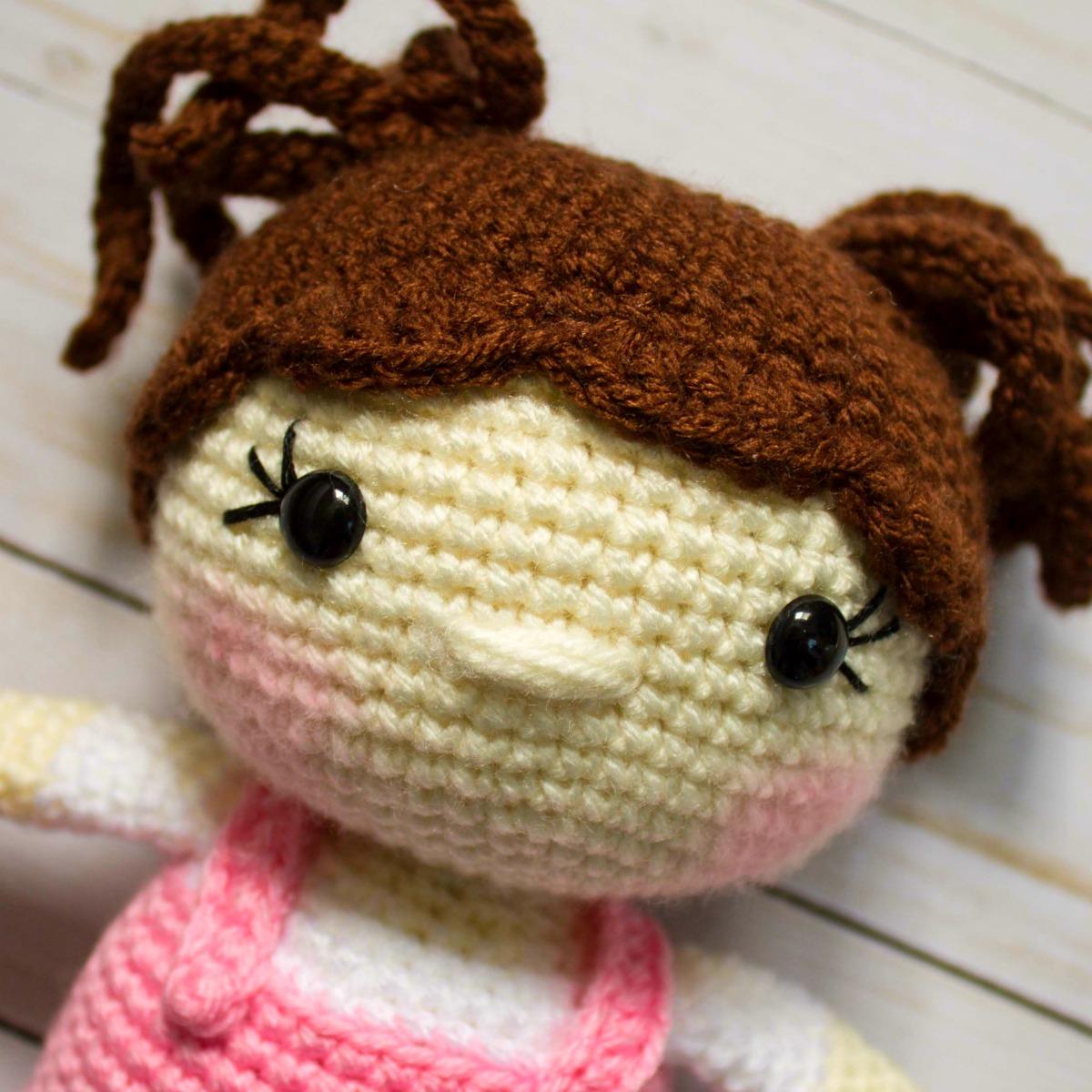 Molly Crochet Doll Pattern - Amigurumi | The WHOot | 1200x1200