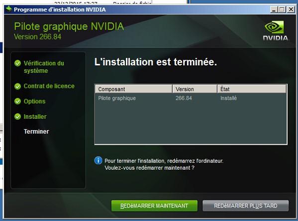 nvidia pilote graphique 307.83