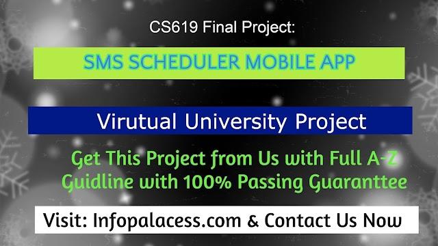 CS619 SMS Scheduler Final Project