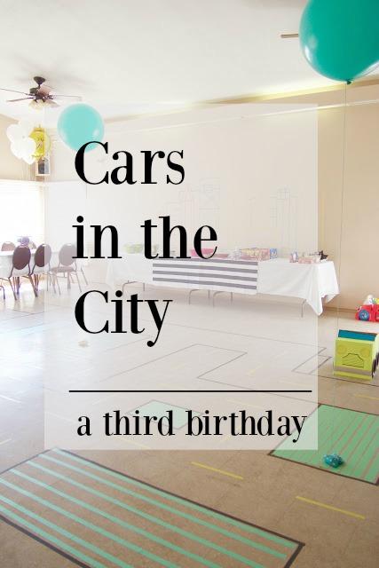 A colourful, fun, car themed third birthday.