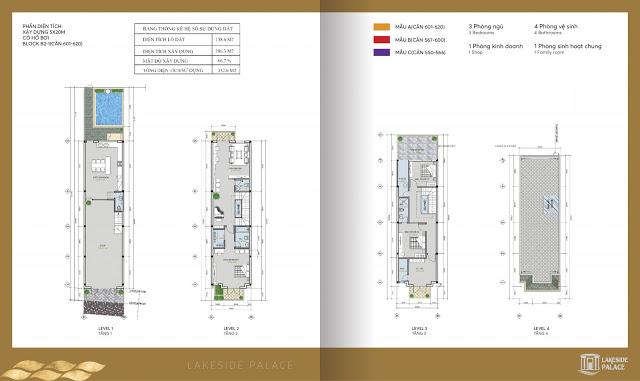Mặt bằng chi tiết bố trí Shophouse mẫu A